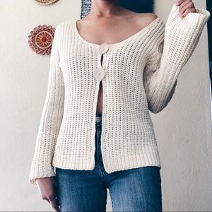 J.Jill Vintage Knitted Button Front sweater